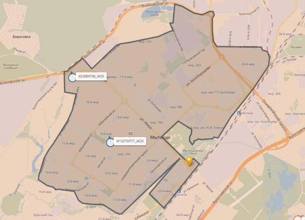 Зона эксплуатации Делимобиля в Самаре